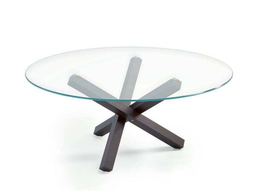 Tavolo rotondo in vetro aikido round sovet italia for Tavolo rotondo vetro