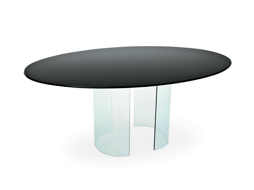 Oval glass table PARTY | Oval table - SOVET ITALIA