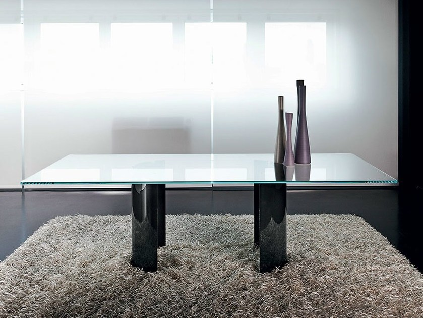Rectangular glass table PARTY | Rectangular table - SOVET ITALIA