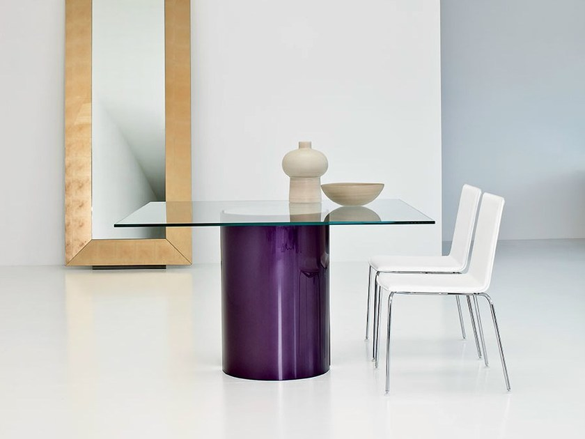 Square glass table PARTY | Square table - SOVET ITALIA