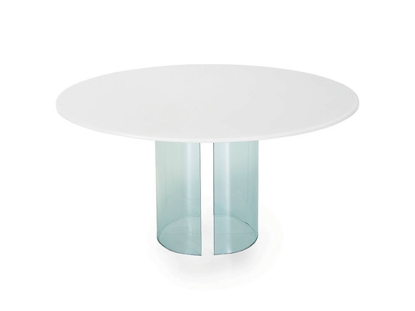 Round glass table PARTY | Round table - SOVET ITALIA