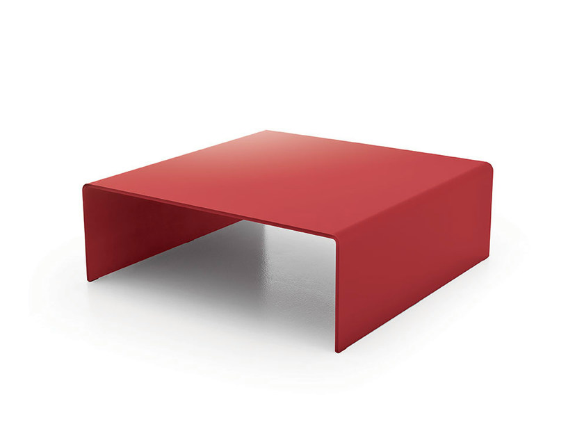 Square crystal coffee table BRIDGE SQUARE - SOVET ITALIA
