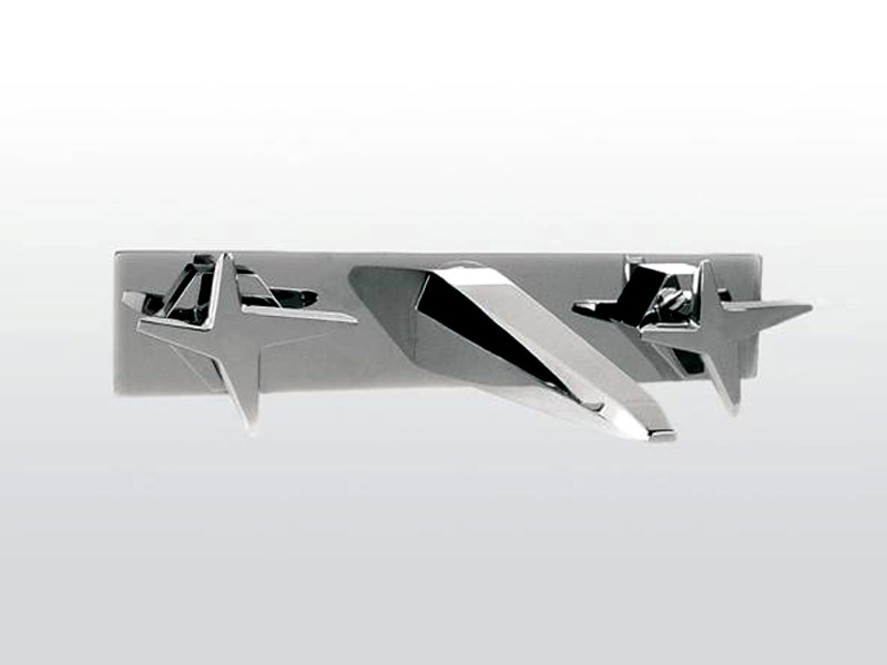 3 hole wall-mounted washbasin tap with plate STELLA | 3863PS - RUBINETTERIE STELLA