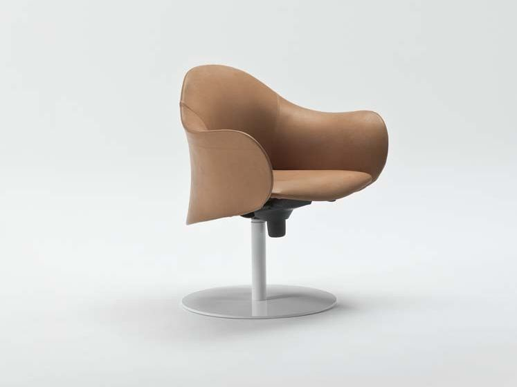 Recliner armchair with armrests with casters LOPOD - ENRICO PELLIZZONI