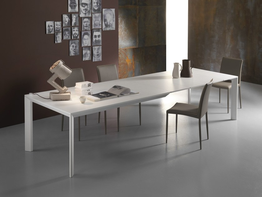 Extending rectangular wooden table CITY | Extending table by RIFLESSI