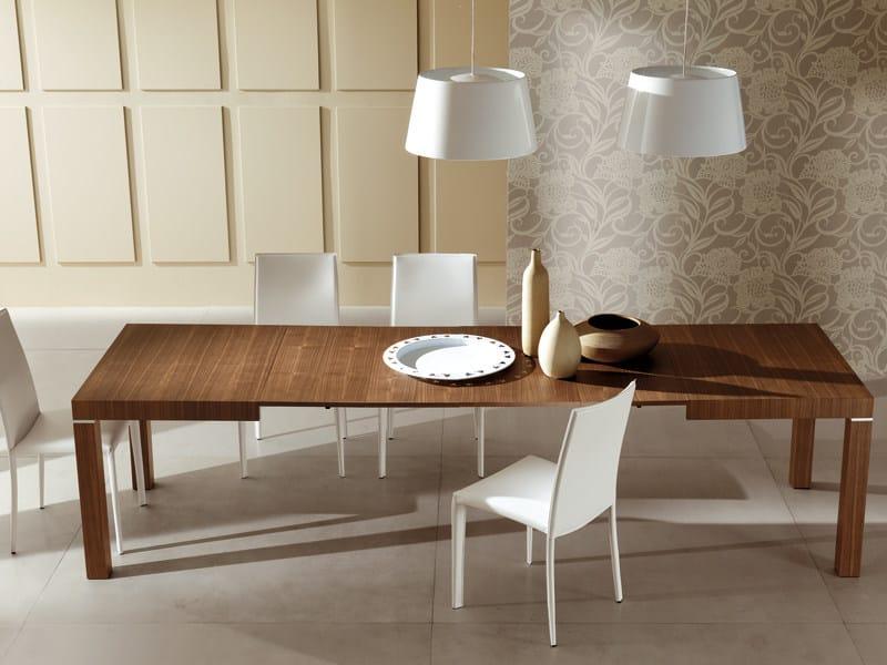 Extending rectangular wooden table CLUB - RIFLESSI