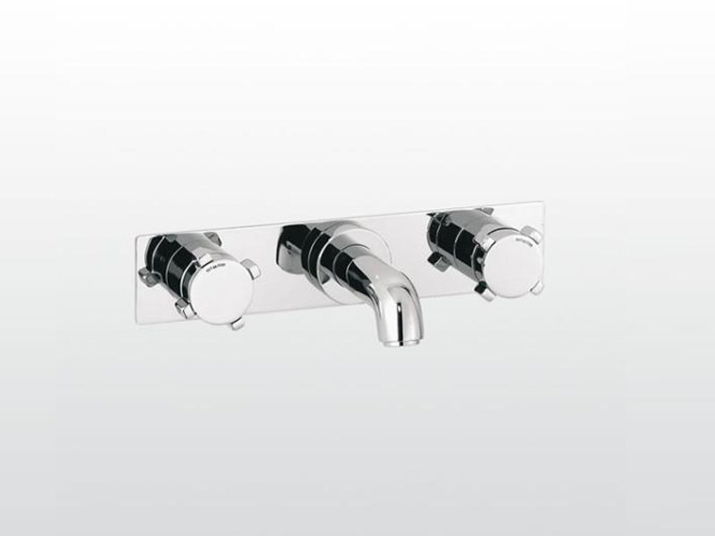 Wall-mounted bathtub tap with plate ASTER | 3250PS - RUBINETTERIE STELLA