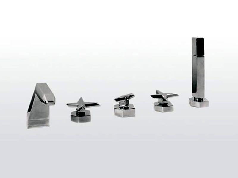 5 hole chrome-plated bathtub set STELLA | 3256/308 - RUBINETTERIE STELLA