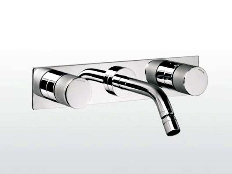 3 hole wall-mounted chrome-plated washbasin tap BAMBOO | 3868 TR/PS - RUBINETTERIE STELLA