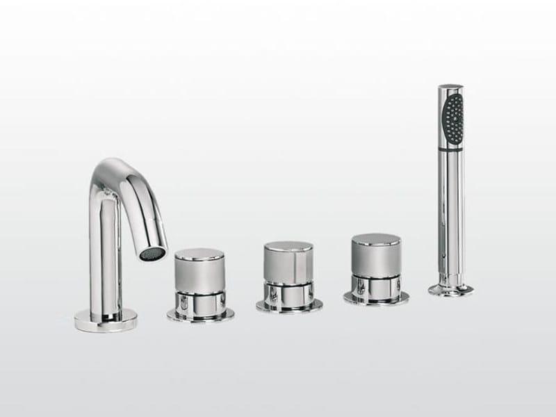 5 hole bathtub set with hand shower BAMBOO | 3256TR308 - RUBINETTERIE STELLA