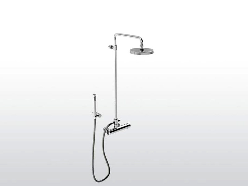 Shower tap with hand shower with overhead shower BAMBOO | Shower tap with overhead shower - RUBINETTERIE STELLA
