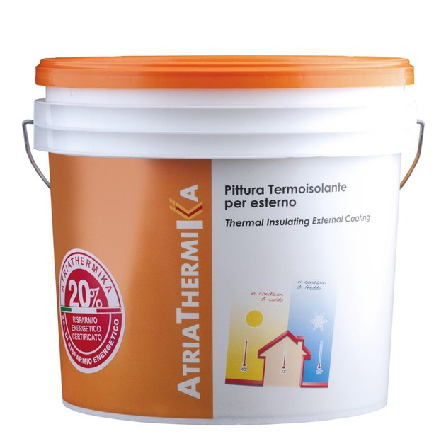 Water repellent water-based paint ATRIATHERMIKA Pittura per esterni - COLORIFICIO ATRIA
