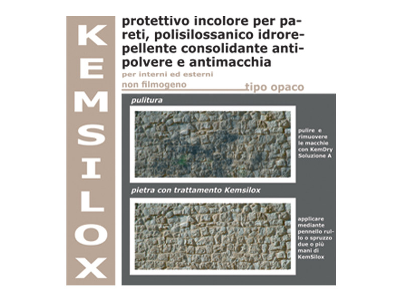 Surface water-repellent product KEMSILOX by COLORIFICIO ATRIA