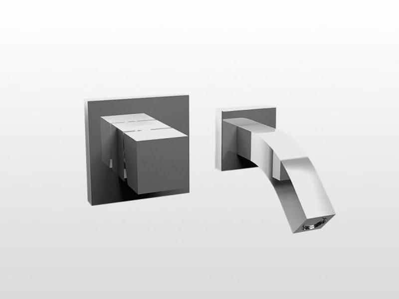 2 hole wall-mounted bathtub mixer BAMBOO QUADRO 3250MC - RUBINETTERIE STELLA