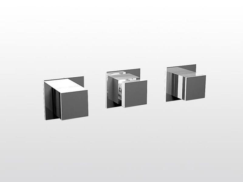 3 hole wall-mounted bathtub set BAMBOO QUADRO 3254TR - RUBINETTERIE STELLA