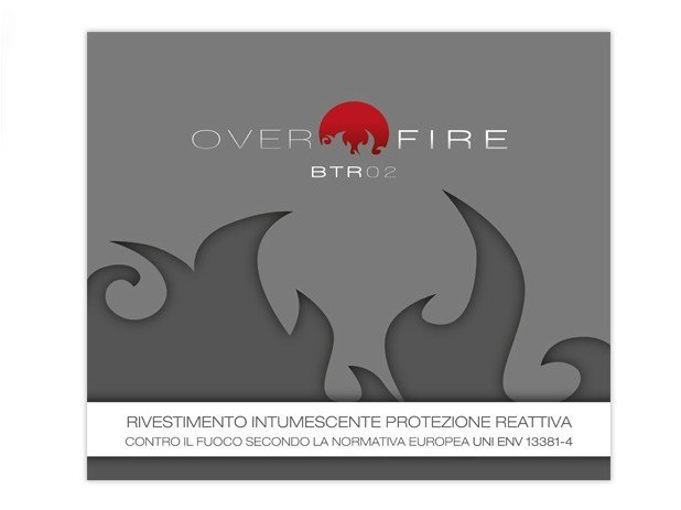 Fire-retardant finish OVER FIRE BTR 02 by COLORIFICIO ATRIA