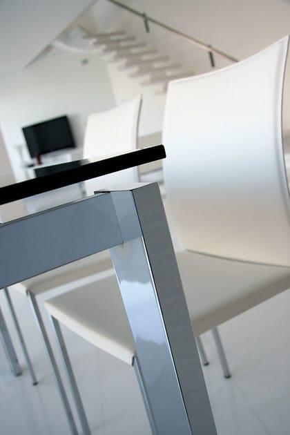 tavolo allungabile rettangolare da pranzo in vetro in stile ... - Come Estendere Un Tavolo Allungabile Lato