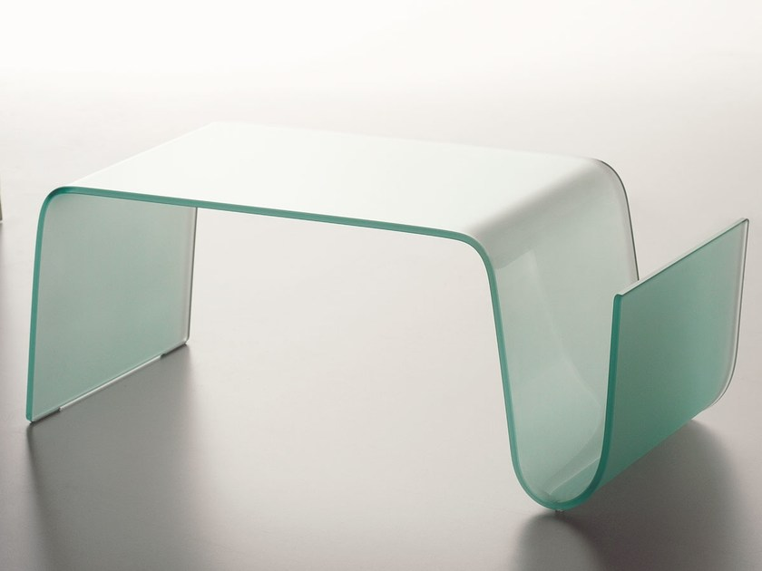 Glass coffee table for living room CURVA by Italy Dream Design