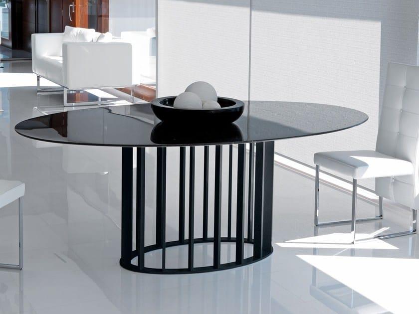 Tavolo ovale da pranzo in stile moderno embassy italy - Tavolo ovale moderno ...