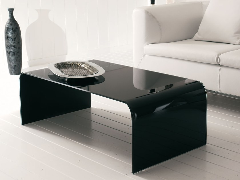 Glass coffee table for living room TITANO - ITALY DREAM DESIGN - Kallisté