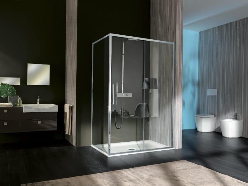 Box doccia in vetro vis box doccia a due posti collezione trendy by samo - Box doccia in vetro prezzi ...