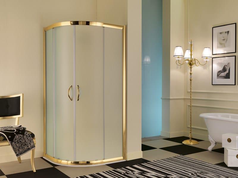 Box doccia angolare in vetro dolce vita samo - Tende per bagno classico ...