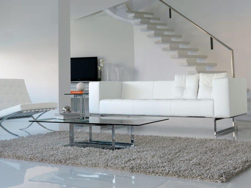 Divano in pelle in stile moderno a 3 posti diplomat3 divano a 3 posti italy dream design - Divano in pelle moderno ...
