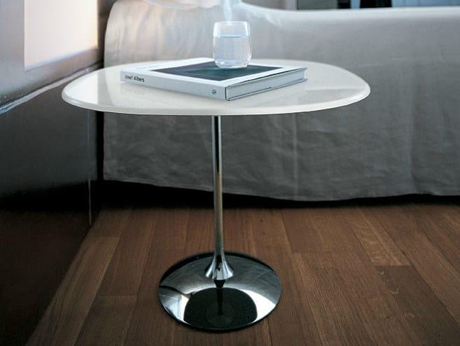 Round glass coffee table TULIP SHAPED - SOVET ITALIA