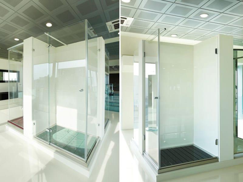 Custom glass shower cabin Custom shower cabin - Vetraria Pescini