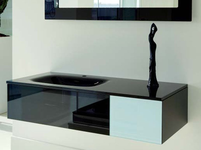 Glass vanity unit GLASS PROJECT | Vanity unit - Vetraria Pescini