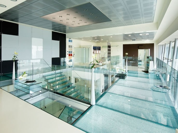 Glass wall/floor tiles GLASS PROJECT | Glass wall/floor tiles - ALUVETRO