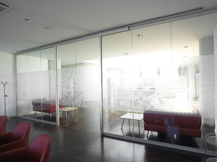 Glass office partition Glass partition wall - Vetraria Pescini