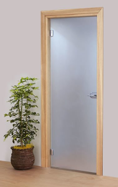 Hinged tempered glass door without frame Hinged door - Vetraria Pescini