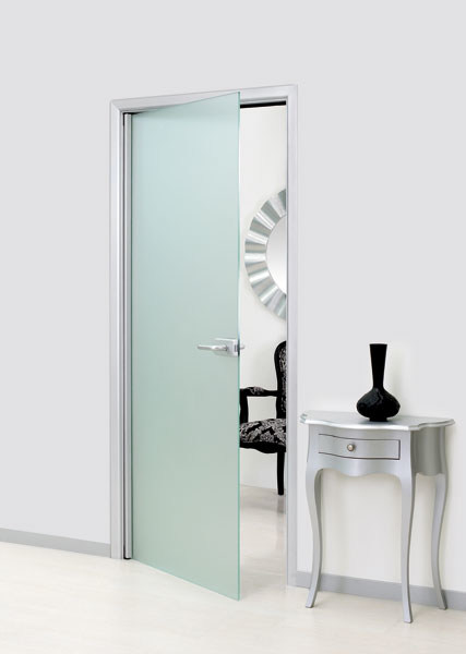 Hinged glass door without frame LEONARDO - Vetraria Pescini