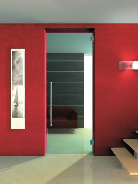 Hinged glass door without frame GLASS PORTE | Door without frame - Vetraria Pescini