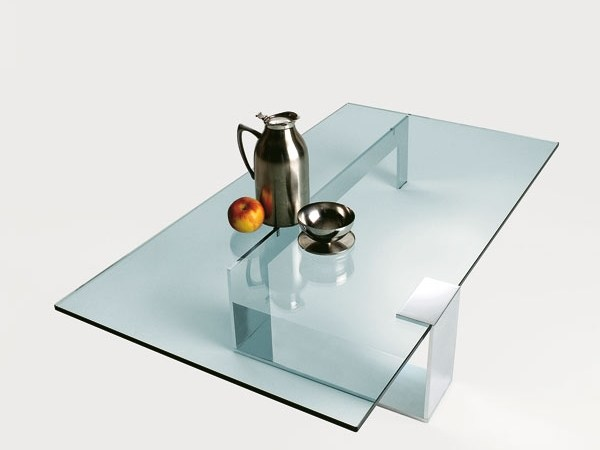Rectangular glass table GLASS PROJECT | Rectangular table - Vetraria Pescini
