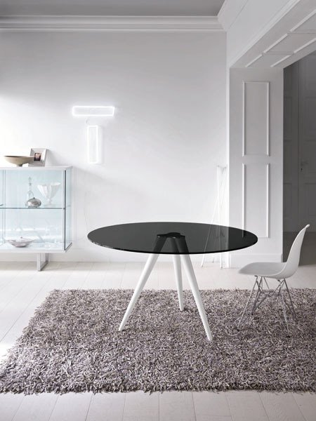 Round glass table GLASS PROJECT | Round table - ALUVETRO