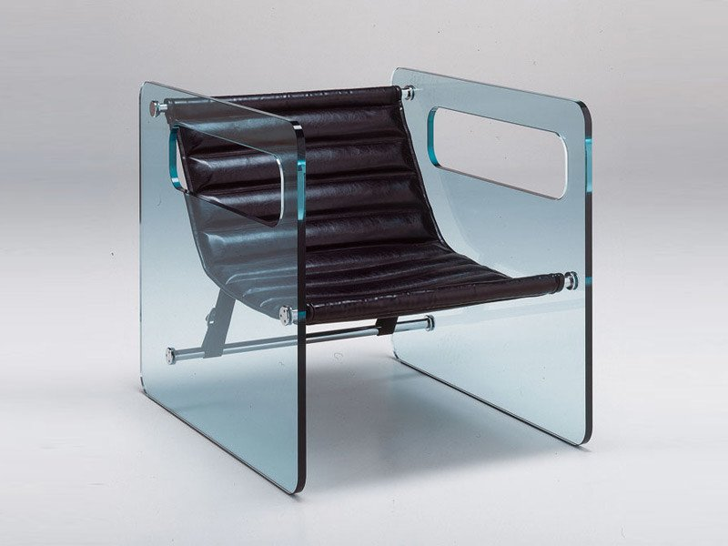 Glass armchair GLASS PROJECT | Armchair - Vetraria Pescini