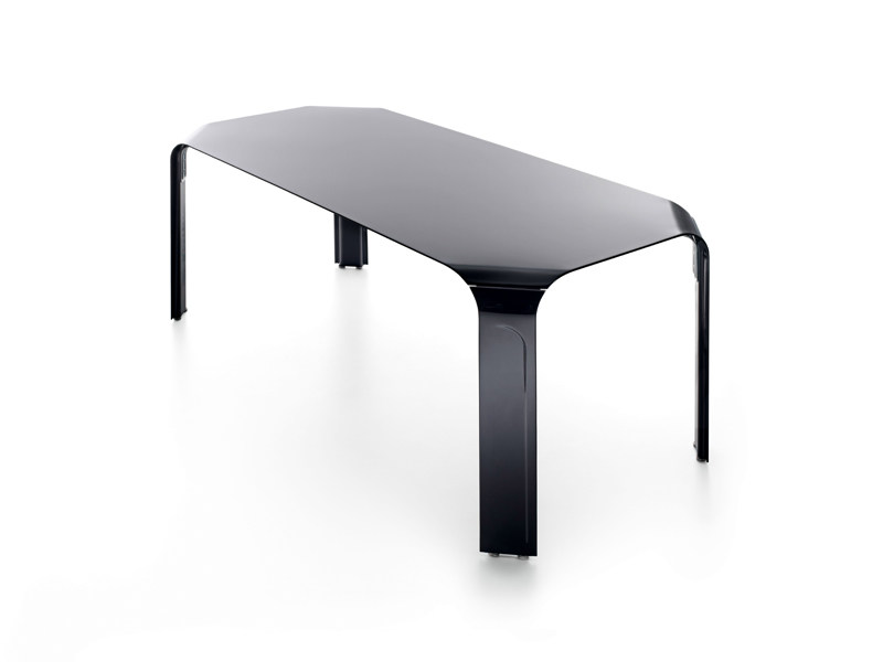 Aluminium table bridge by borella design design sergio for Table exterieur design aluminium