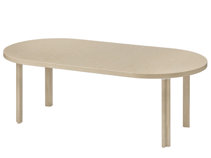 Table extensible ovale en bois h99 by artek design alvar for Table ovale extensible bois