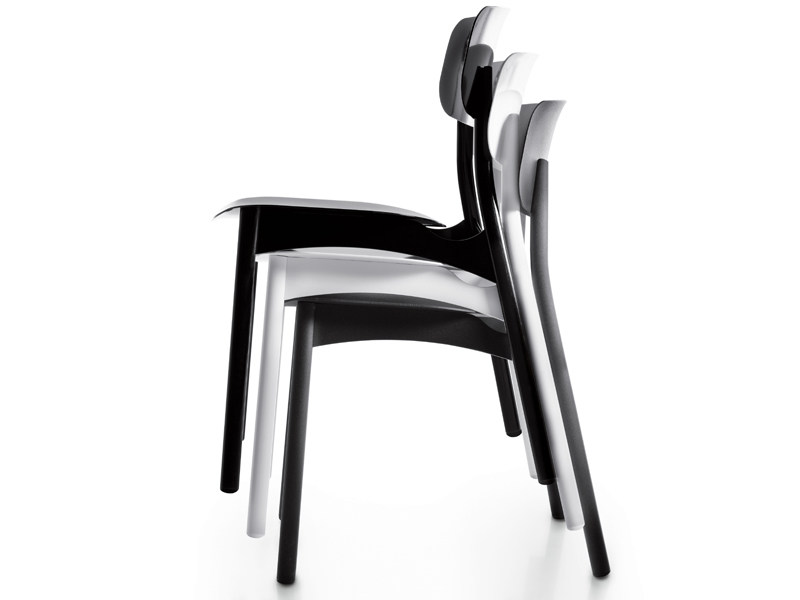 Upholstered stackable chair DIVA UP - Borella Design