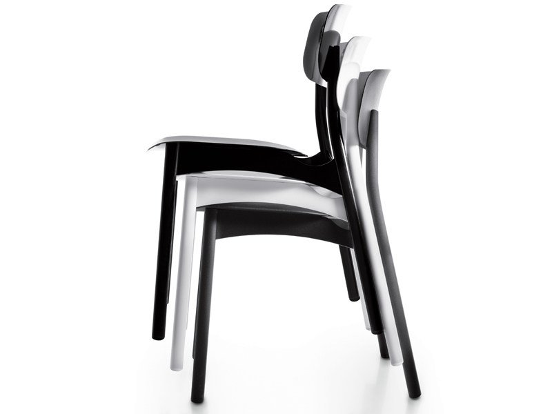 Upholstered stackable chair DIVA UP by Borella Design