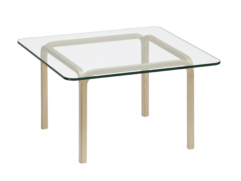Square glass coffee table for living room Y805 | Square coffee table - Artek