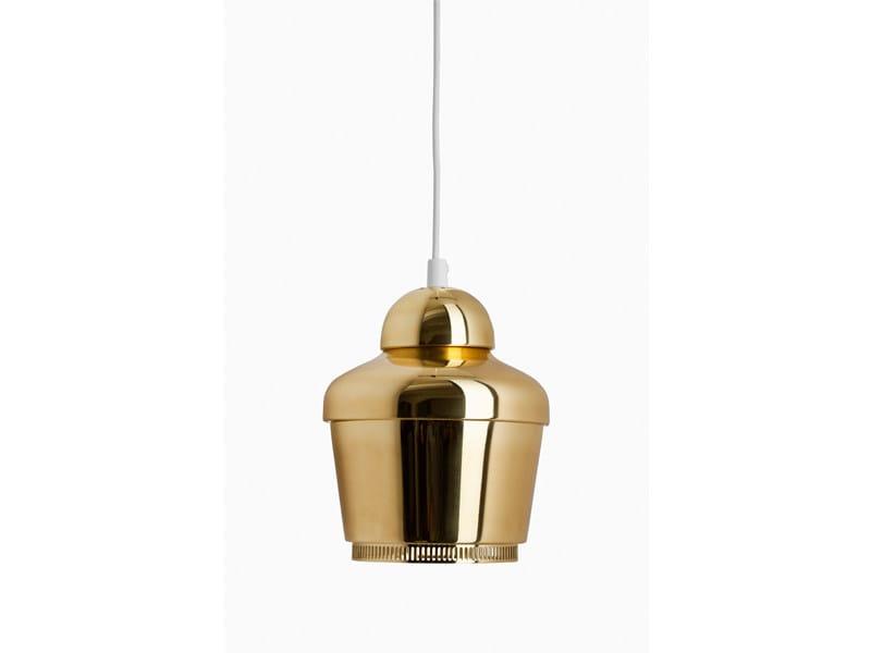 Fluorescent brass pendant lamp A330 | Pendant lamp - Artek