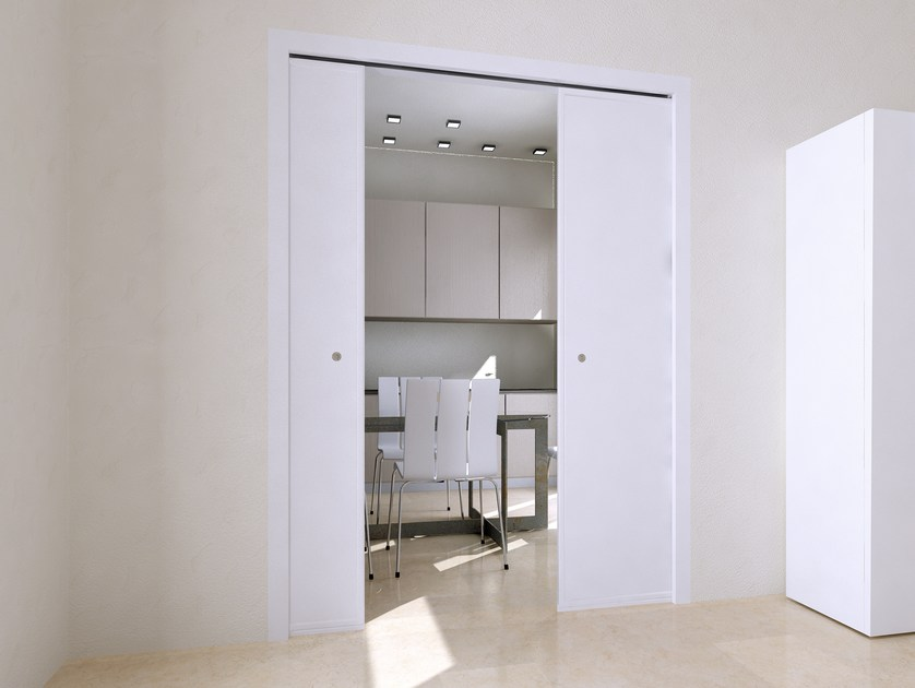 Controtelaio per porta scorrevole a doppia anta donatello - Porta scorrevole doppia ...