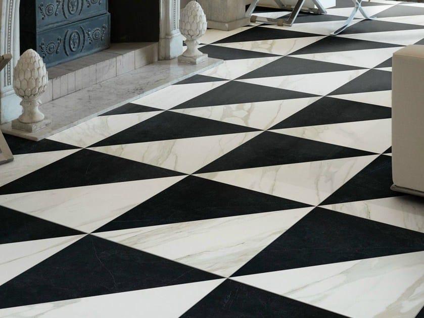 Pavimento in gres porcellanato effetto marmo for Pavimento bianco e nero