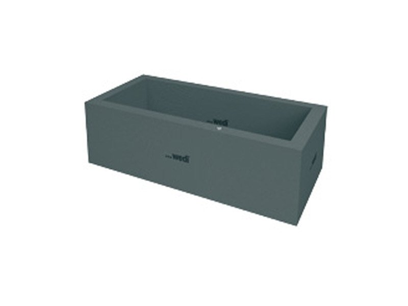 Rectangular bathtub SANBATH CUBE - Wedi Italia