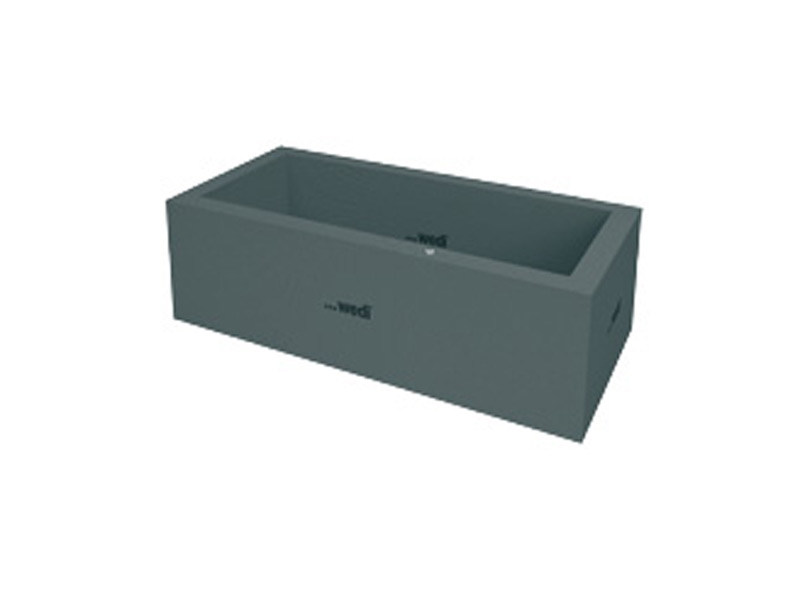 Rectangular bathtub SANBATH CUBE by Wedi Italia