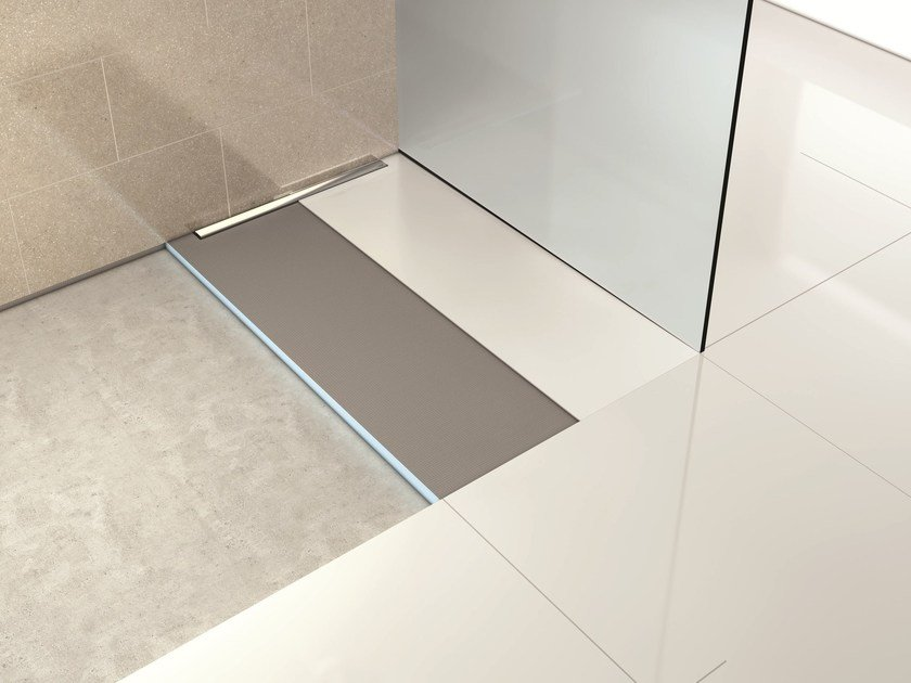 Flush fitting tiled custom shower tray FUNDO RIOLITO NEO - Wedi Italia