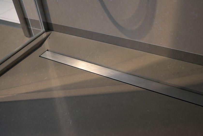 Piatto doccia filo pavimento piastrellato su misura fundo - Piatto doccia pavimento ...